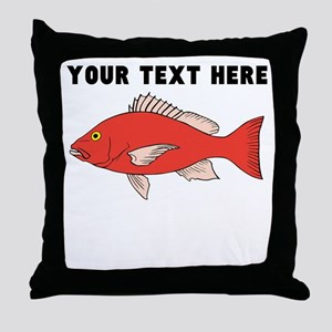 Custom Red Snapper Throw Pillow