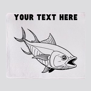 Custom Tuna Fish Throw Blanket