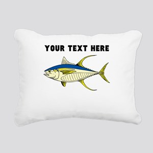 Custom Tuna Fish Rectangular Canvas Pillow