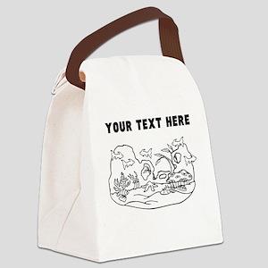 Custom Fish Aquarium Canvas Lunch Bag