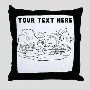 Custom Fish Aquarium Throw Pillow