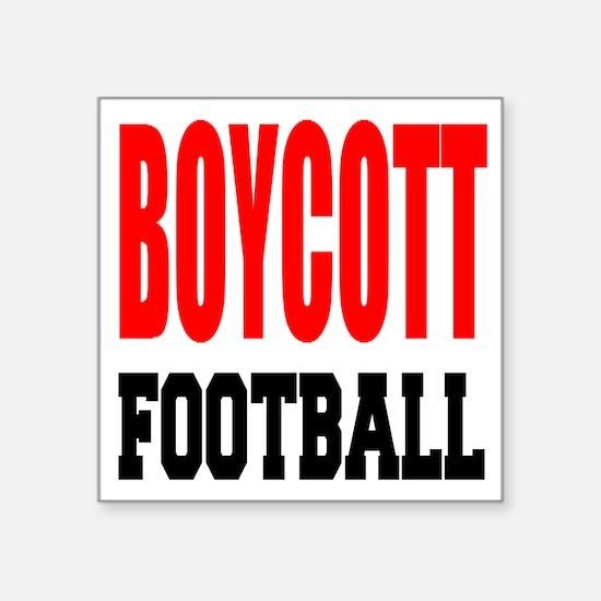 Boycott Football Sticker