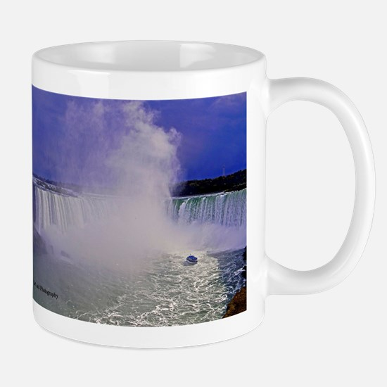 Horseshoe Falls And Boat Large Mugs