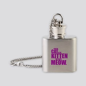 Cat To Be Kitten Me Flask Necklace