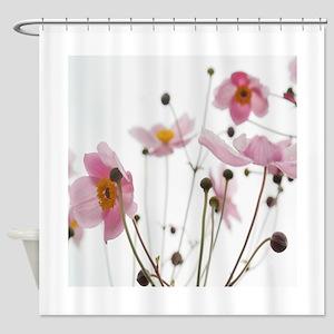 Flowers Pink Shower Curtain Shower Curtain