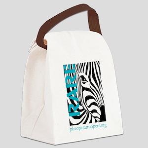Zebra Pride Canvas Lunch Bag