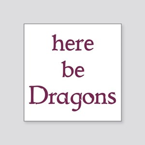 Here Be Dragons 002c Sticker