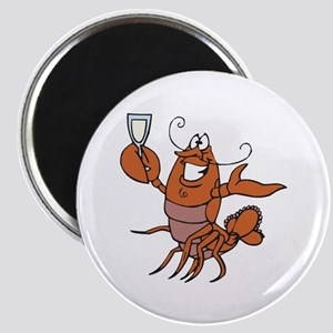 Toasting Wine Lobster Magnet