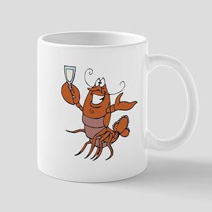 Toasting Wine Lobster Mug