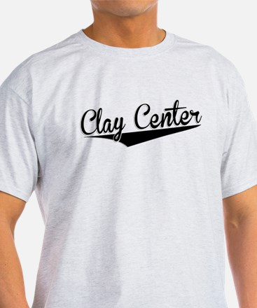 Clay Center, Retro, T-Shirt