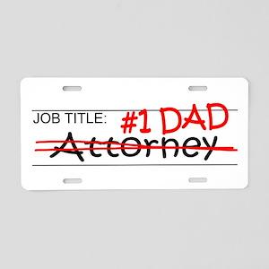 Job Dad Attorney Aluminum License Plate