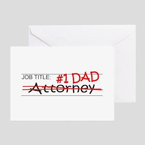 Job Dad Attorney Greeting Card