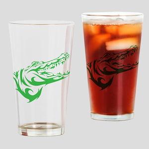 Green Alligator Head Drinking Glass