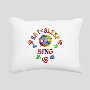 Eat Sleep Sing Rectangular Canvas Pillow