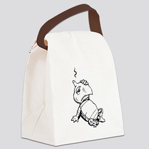 Turtle With Concussion Canvas Lunch Bag