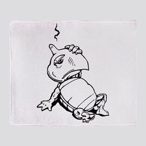 Turtle With Concussion Throw Blanket