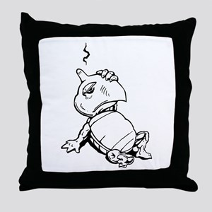 Turtle With Concussion Throw Pillow