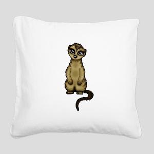 cute Meerkat Square Canvas Pillow