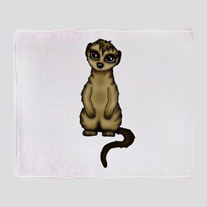 cute Meerkat Throw Blanket