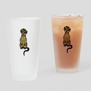 cute Meerkat Drinking Glass