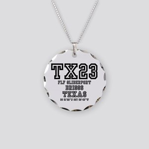 TEXAS - AIRPORT CODES - TX23 Necklace Circle Charm