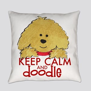Goldendoodle Keep Calm Everyday Pillow
