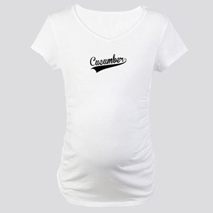 Cucumber, Retro, Maternity T-Shirt