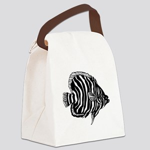 Zebra Tropical Fish Canvas Lunch Bag