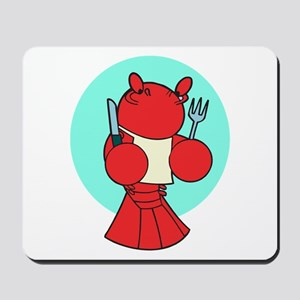 Cute Hungry Lobster Mousepad