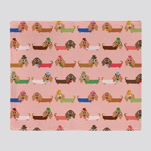 Delightful Dachshunds Throw Blanket