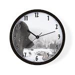 Keeshond at Shadow's Creek Wall Clock