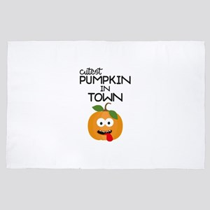 Cutest Halloween Pumpkin 4' x 6' Rug