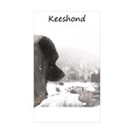 Keeshond at Shadow's Cre Sticker (Rectangle 50 pk)
