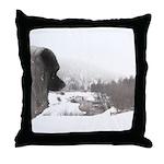 Keeshond at Shadow's Creek Throw Pillow