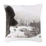 Keeshond at Shadow's Creek Woven Throw Pillow