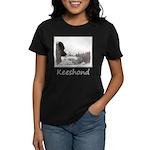 Keeshond at Shadow's Creek Women's Dark T-Shirt