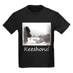 Keeshond at Shadow's Creek Kids Dark T-Shirt
