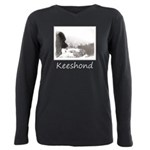 Keeshond at Shadow's Cre Plus Size Long Sleeve Tee