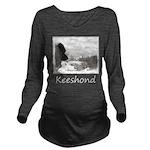 Keeshond at Shadow's Long Sleeve Maternity T-Shirt