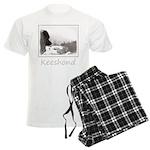 Keeshond at Shadow's Creek Men's Light Pajamas