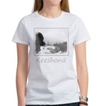 Keeshond at Shadow's Women's Classic White T-Shirt