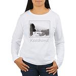 Keeshond at Shadow's C Women's Long Sleeve T-Shirt