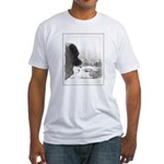 Keeshond at Shadow's Creek Fitted T-Shirt