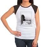 Keeshond at Shadow's C Junior's Cap Sleeve T-Shirt