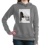 Keeshond at Shadow's Cre Women's Hooded Sweatshirt