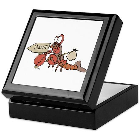 Lobster Moving to Maine Keepsake Box