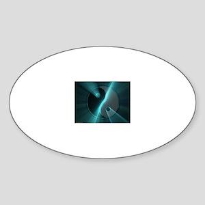 Yin Yangs Oval Sticker