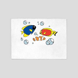 Tropical Fish 5'x7'Area Rug