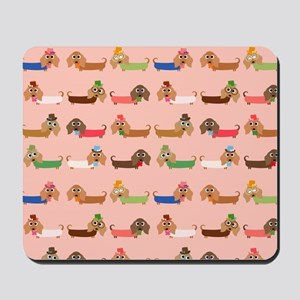 Delightful Dachshunds Mousepad