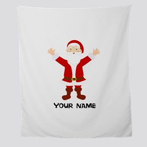 Christmas Santa Personalized Wall Tapestry
